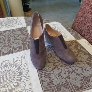 New Amalfi Taupe Suede Leather Booties Size 7.5M